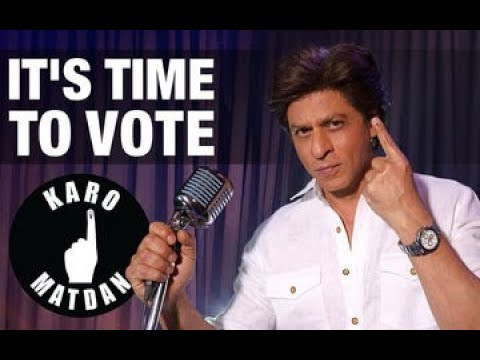 Shah Rukh Khan's new rap song asking people to cast vote; Karo Matdan, It's Time To Vote