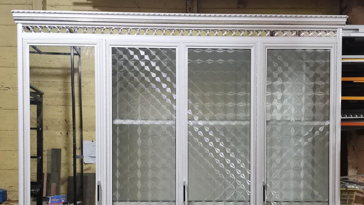 Berbagi contoh lemari kaca aluminium lemari baju 4 pintu ...