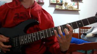 Megadeth-1000 Times Goodbye Cover (Rhythmic Guitar)