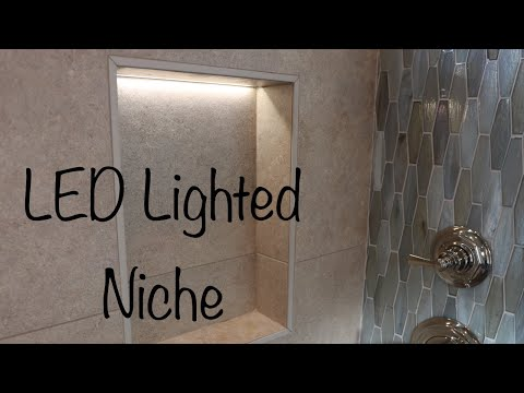 How To Make A Lighted Led Tile Niche