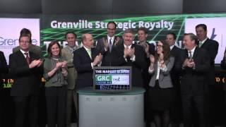 Grenville Strategic Royalty Corp. (GRC:TSX-V) opens TSX Venture Exchange, March 17, 2014