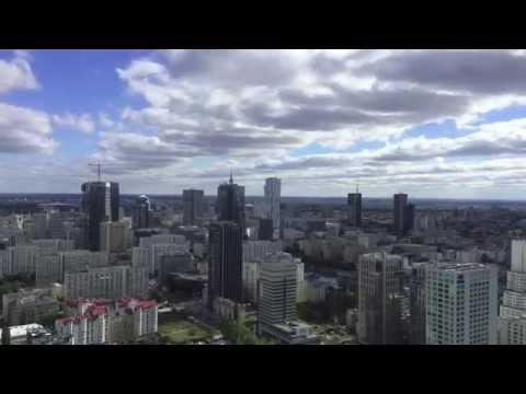 Warsaw downtown, 35th floor of Warsaw Trade Tower - time-lapse - part 2