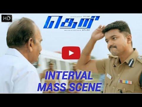 Theri Interval Mass Scene HD   Vijay,...