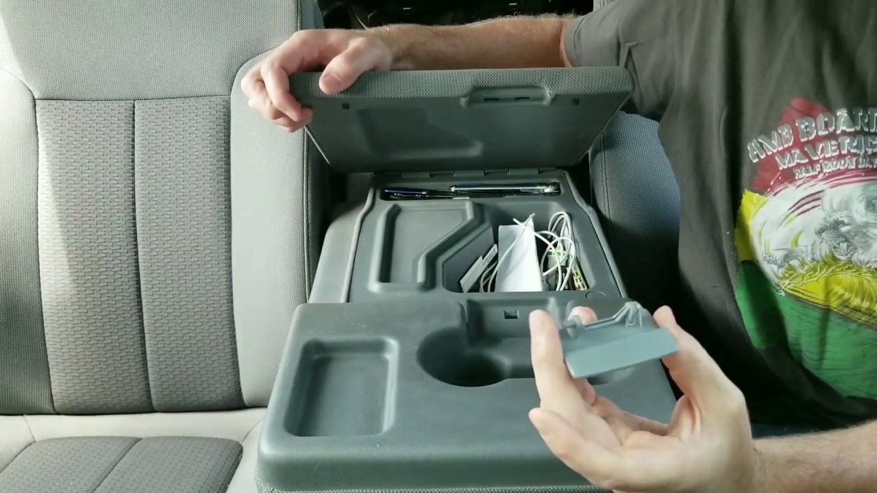 How to install a Ford F-150 center console lid latch 2011 ...