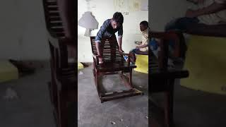 Polishing Rosewood Rocking Chair