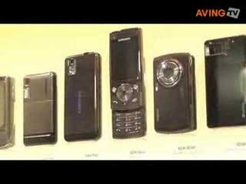 2008 Samsung mobile full line-up