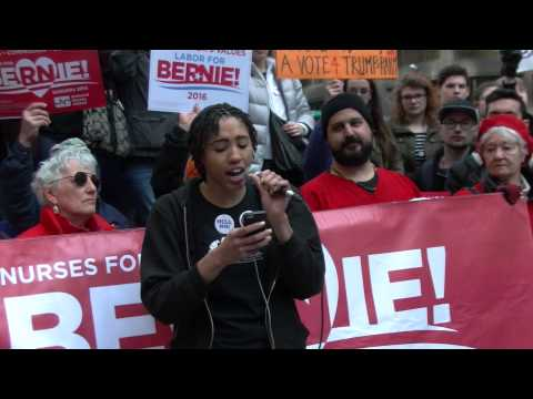 Darletta Scruggs of Socialist Alternative Addresses Bernie Sanders Rally in Chicago