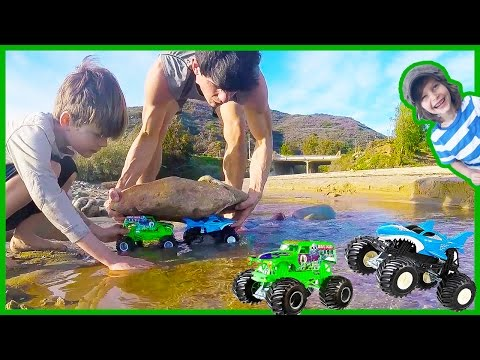 Monster Trucks Build a Dam