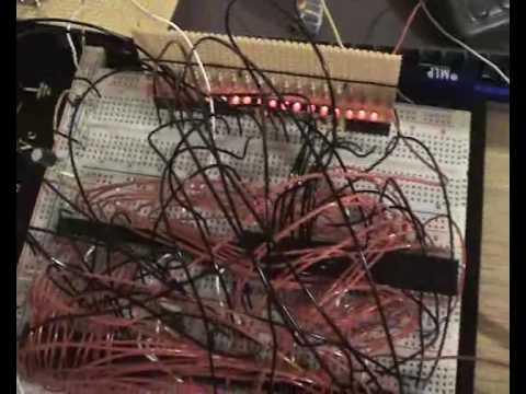 8086 Microcomputer selfmade (2004)
