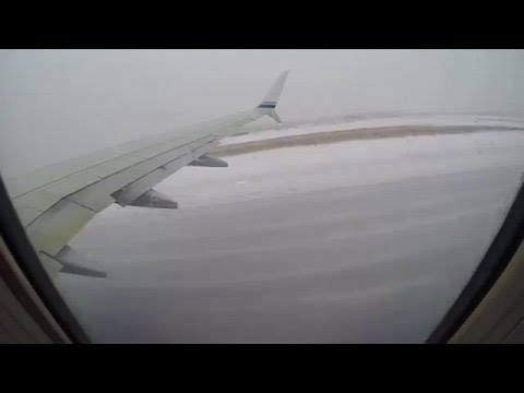 Ted Stevens Anchorage International Airport (PANC) snow storm departure