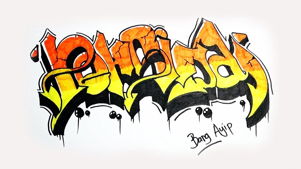 Menggambar Graffiti Persija Jakarta Youtube