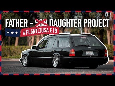 Vater-Tochter-Projekt: Mercedes W124 T-Modell Auf BBS RS    FLGNTLT USA E19