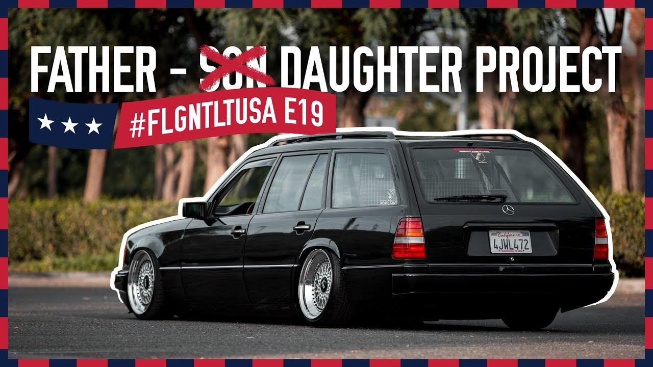 Vater-Tochter-Projekt: Mercedes W124 T-Modell auf BBS RS I FLGNTLT USA E19