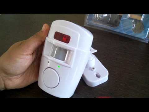 PIR Sensor Alarm with 2 Remote to detect Motion and blow siren