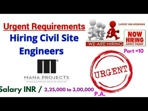 Civil Er. Job || Urgent Requirements of Civil Engineers || Hiring Civil Site Engineer