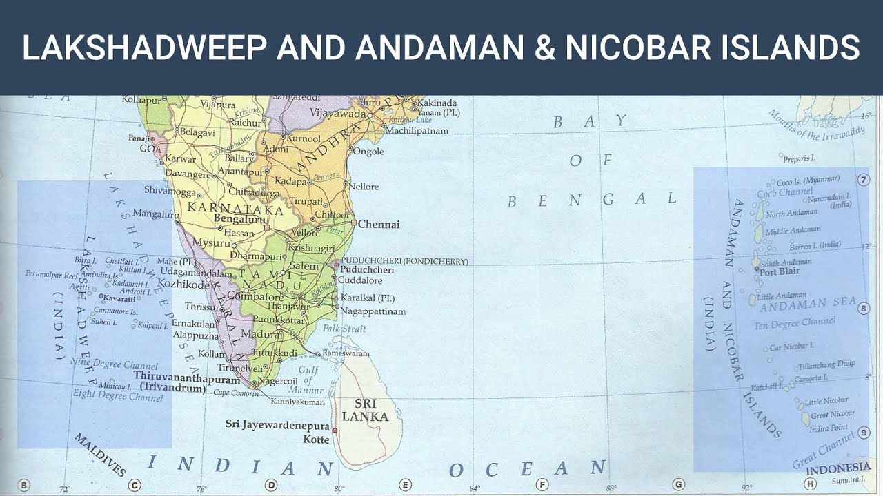 Lakshadweep And Andaman Nicobar Islands Indian Geography - Us-army-maps-india