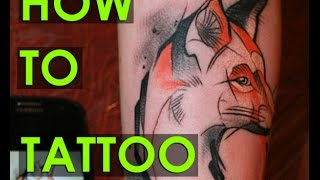 HOW TO TATTOO, tattooing , TIME LAPSE, Алексей Михайлов, как делают тату, Learn, 2015 / PART 2.