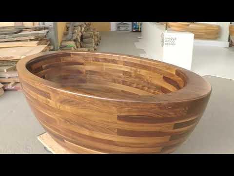 Wooden bathtub by Unique Wood Design