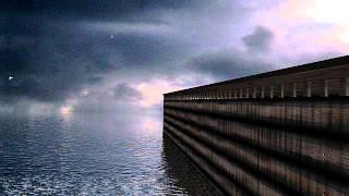 Noah's ark 3d animation during flood rain 40 days and nights