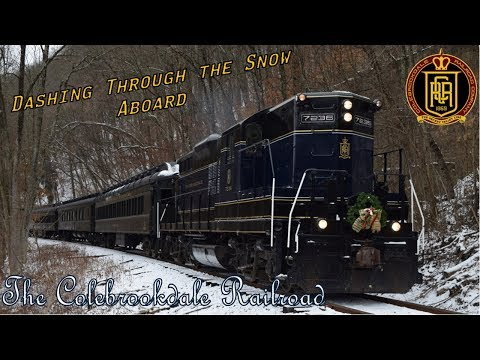 Dashing Through The Snow On The Colebrookdale Railroad