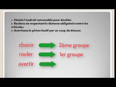 Conjugaison L Imperatif Present Des Verbes Du 1er Et Du 2eme Groupe 6eme Annee Primaire Youtube