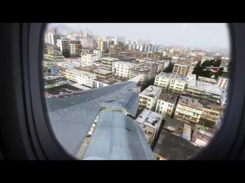 [FSX[ Realistic Graphics Boeing 747-400 Landing Kai Tak, Hong Kong