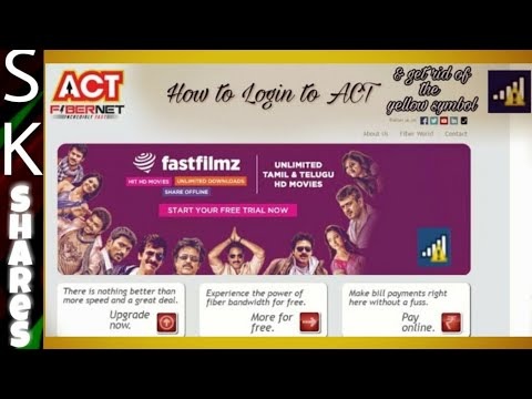 How to login to ACT broadband