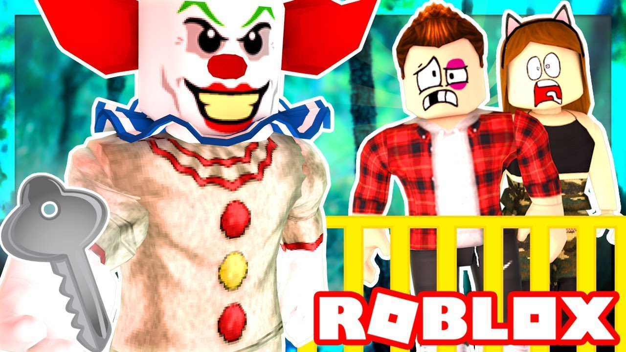Itsfunneh Videos Roblox Family Bloxburg Roblox Family Creepy Clown Traps Us In A Room We Must Escape Roblox Roleplay Youtube