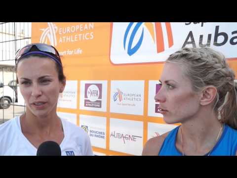 Alina Fyodorova (UKR) after winning EC Combined Events Aubagne 2015