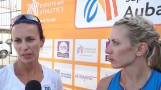 Alina Fyodorova (UKR) after winning EC Combined Events Aubagne 2015