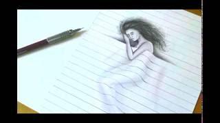 3D Drawing Girl