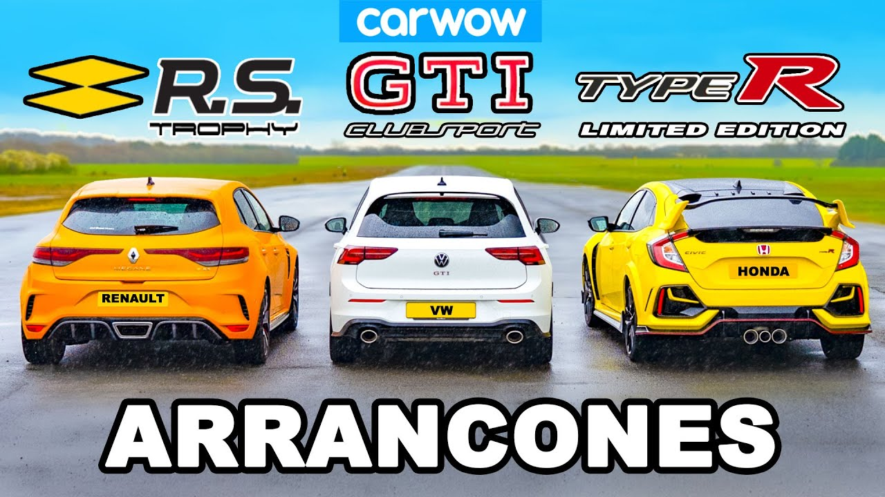 VW Golf GTI Clubsport vs Civic Type R vs Megane Trophy: ARRANCONES