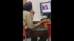 Old man watching Sex cam in LIBRARY beside a KID!!