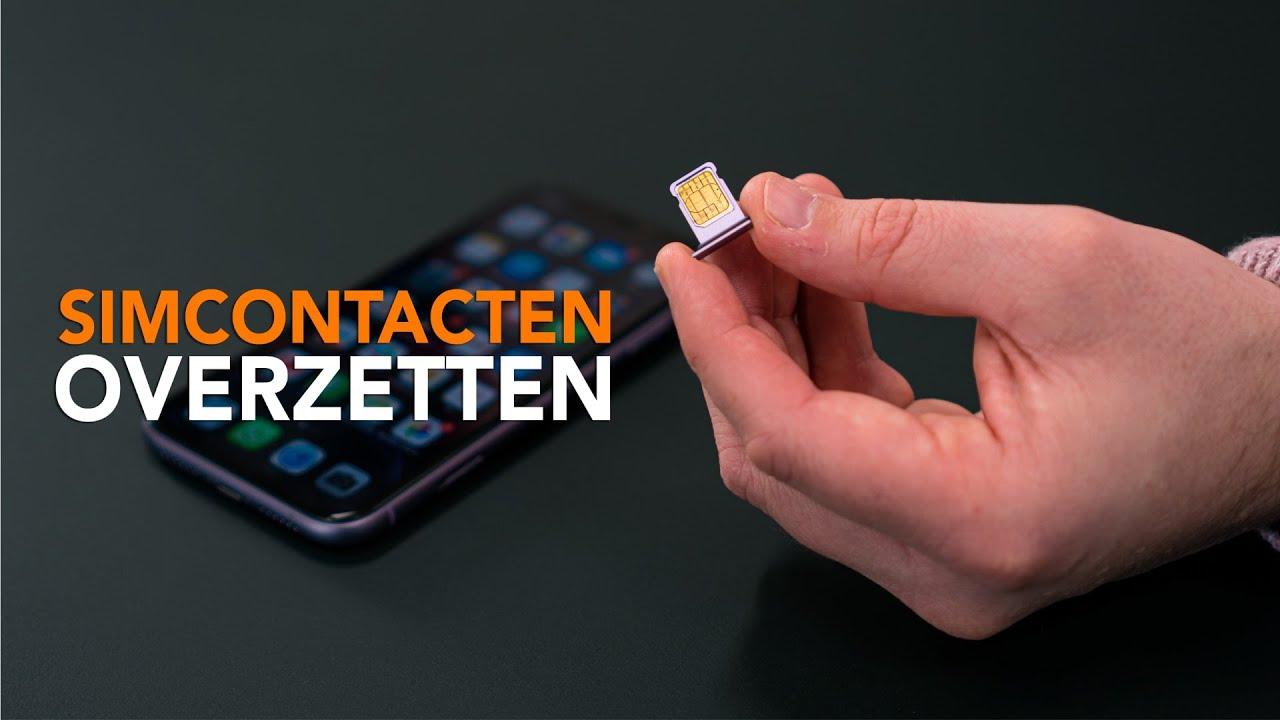 Simcontacten overzetten naar je iPhone: zo doe je dat