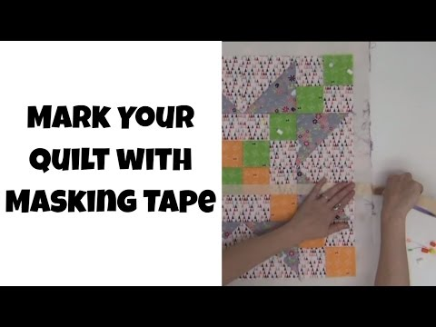 Mark Your Quilt With Masking Tape! Beginner Quilting Tutorial With Leah Day