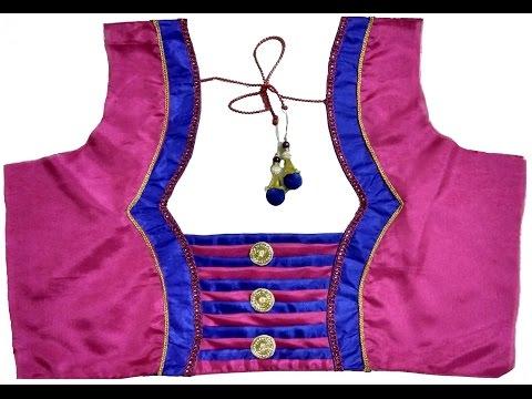 Designer Bridal Back Neck Blouse Pattern - 1 (DIY)