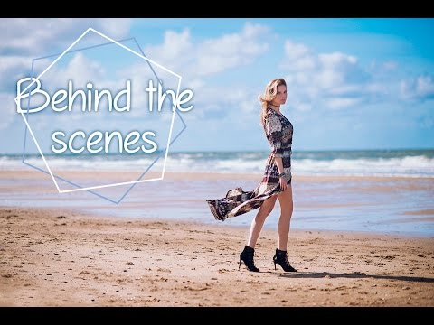 Beach fashion shoot, Backstage - Anastasia Vervueren