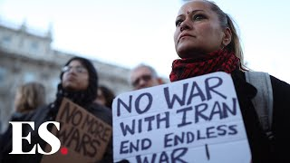 Hundreds protest against threat of war with Iran, From YouTubeVideos