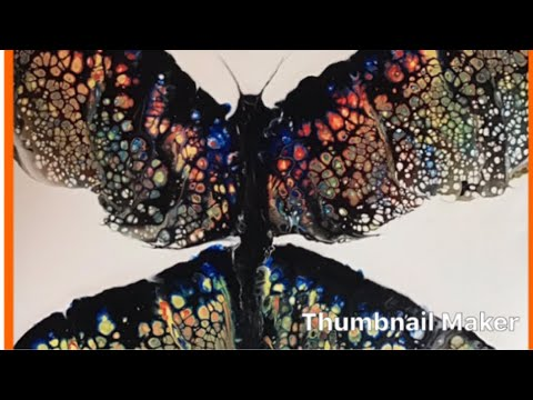 136 How To Acrylic Paint Swipe A Butterfly Youtube
