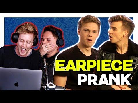 Joe Sugg, Caspar Lee INTERVIEW *PRANK* (EARPIECE) ft Conor Maynard