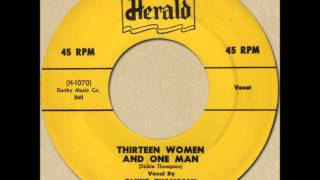 DICKIE THOMPSON - THIRTEEN WOMEN AND ONE MAN [herald 424] 1954