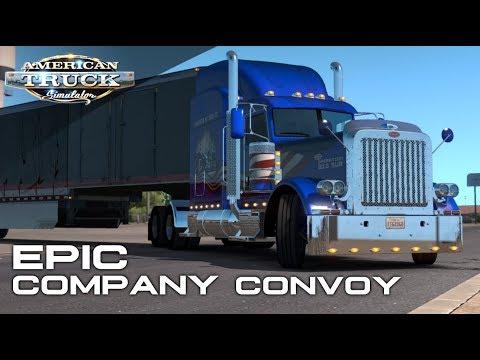 EPIC ONLINE CONVOY SOUTH   #1 VTC FTG UNITED LOGISTICS LLC   AMERICAN TRUCK SIMULATOR ONLINE