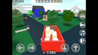 Playing roblox working at pizza place ( very fun )