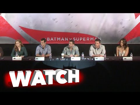 Batman v Superman: Dawn of Justice: Full Press Conference Wide Camera