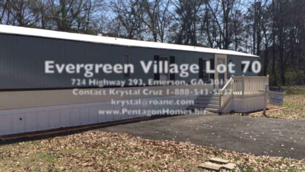 Affordable Mobile Home For Sale In Evergreen Village Emerson Georgia Financing Available