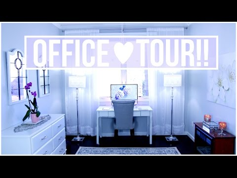New Office Tour + Diy Room Decor!