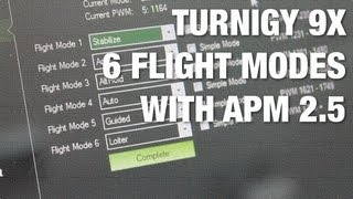 Turnigy 9X Stock Firmware 6 Position Switch for 6 Flight Modes with APM 2.5 and Mission Planner