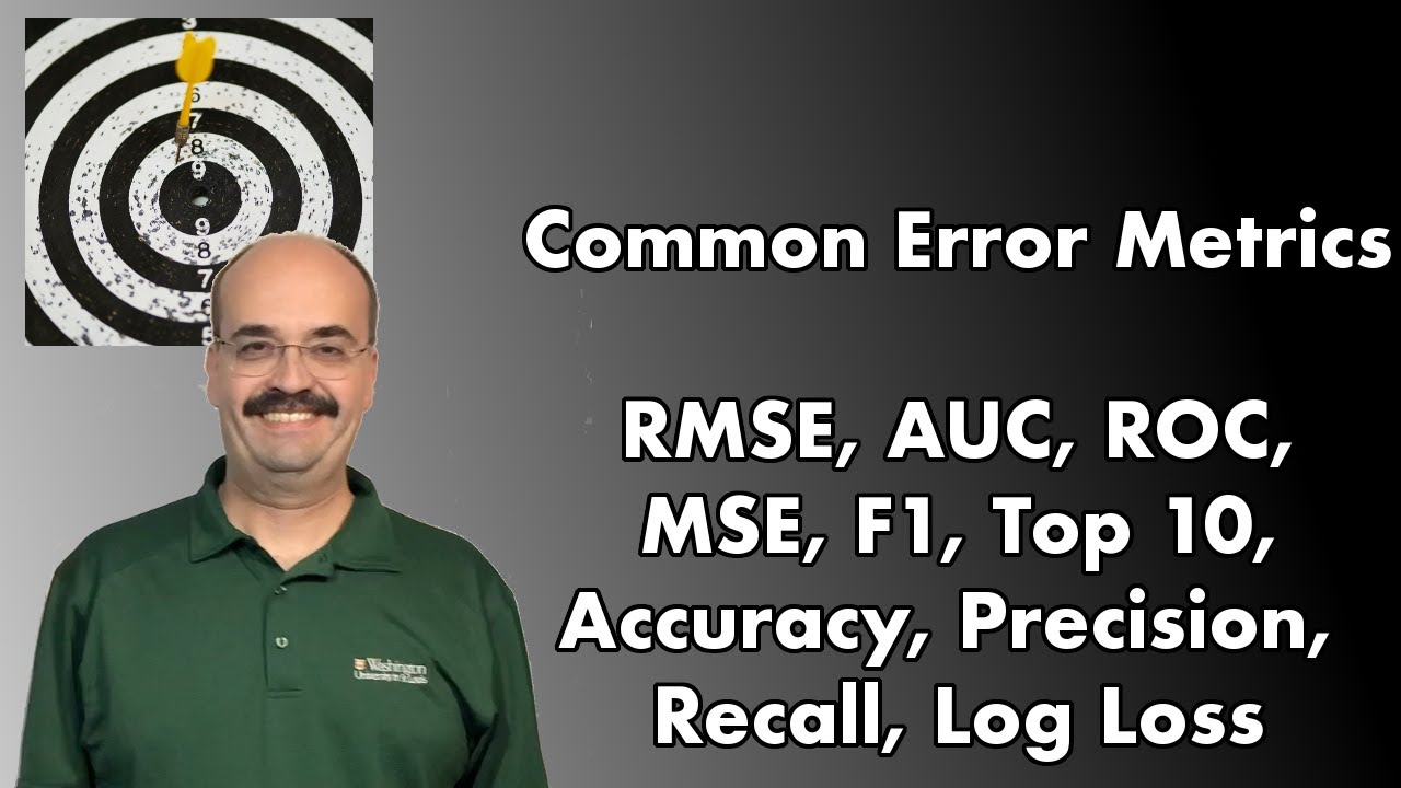 Which Machine Learning Error Metric to Use?? RMSE, MSE, AUC, Lift, F1 & more