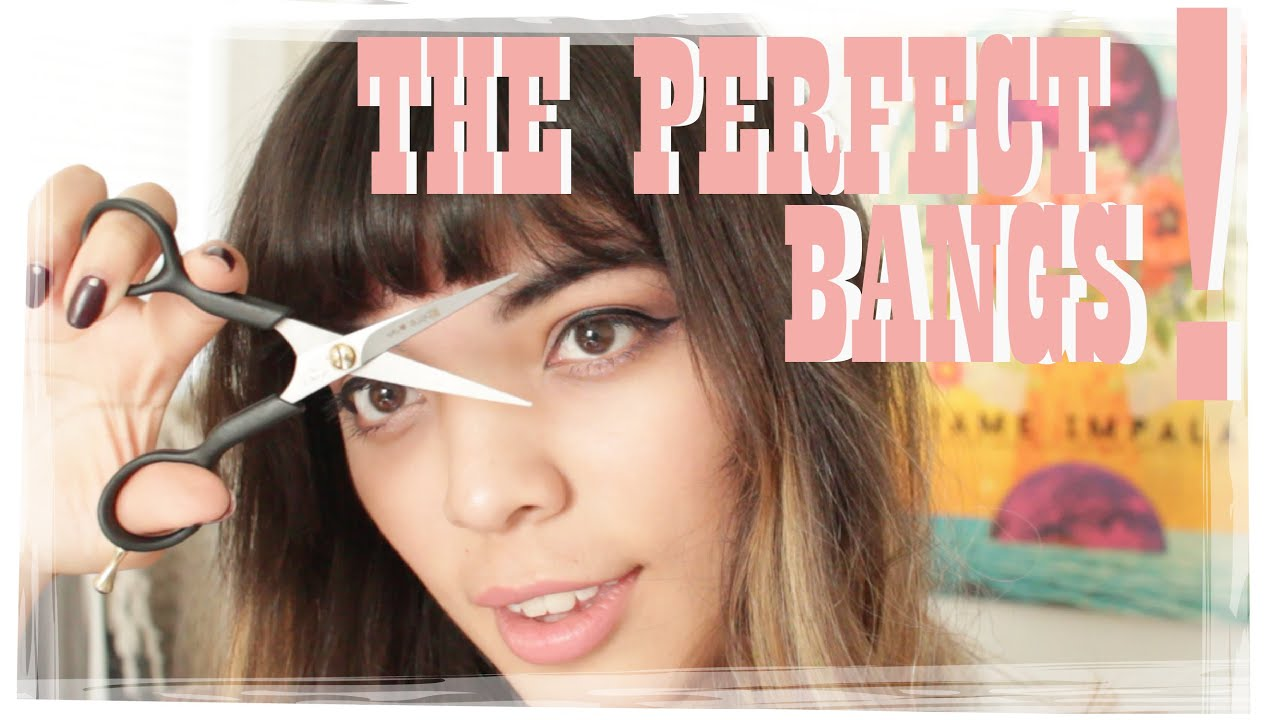 How To Cut The Perfect Thick Bangs Slips Stones Youtube