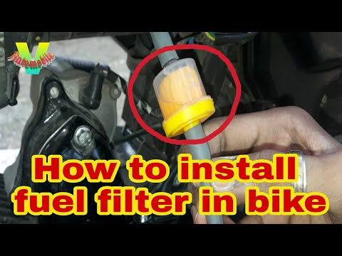 How to clean fuel filter and install aftermarket fuel filter in bike.